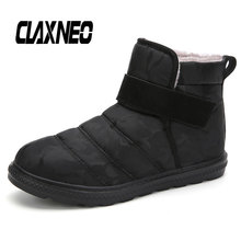 CLAXNEO Man Winter Boots Fur Warm Snow Shoes Male Boot Plush waterproof Casual Shoe