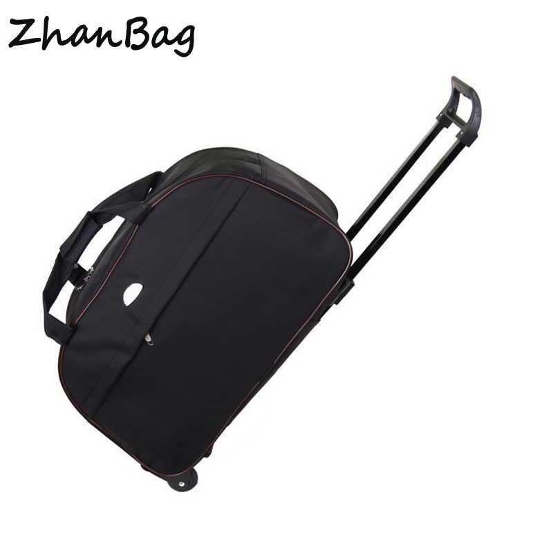 עמיד למים אוקספורד בד נסיעות מזוודות עגלת עגלת, עגלת אופנה מקרה, מטען דובון מתגלגל עגלת תיק, משלוח חינם, Z107