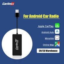 Loadkey & carlinkit wired carplay android dongle automático para android tela do sistema de ligação inteligente suporte espelho-link ios 14 mapa música