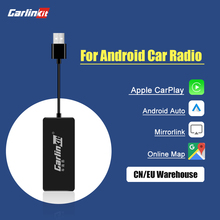 Roadkey & Carlinkit – Dongle filaire Carplay Android Auto, pour écran système Android Smart link, Support mirrorlink IOS 14, carte de musique