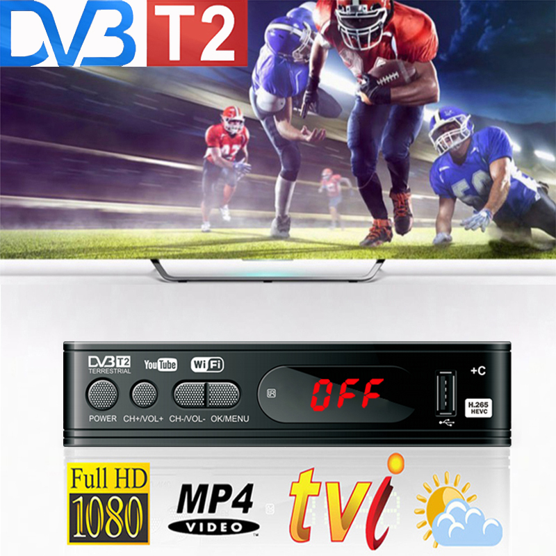 Dvb T2 Wifi Usb2.0 Full-HD 1080P Dvb-t2 Tuner TV Box HDMI Satellite Tv Receiver Tuner Dvb T2 Built-in Russian Manual