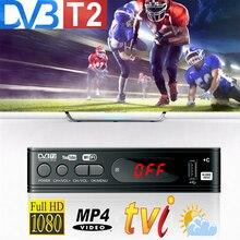 Dvb T2 Wifi Usb2.0 كامل HD 1080P Dvb t2 موالف صندوق التلفزيون HDMI استقبال الأقمار الصناعية موالف Dvb t2 المدمج في دليل الروسية
