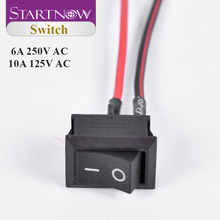 ON/OFF Switch SPST 6A/250V 10A/125V AC Boat Rocker Switch With Wire 2 Pins Black Push Button Switch
