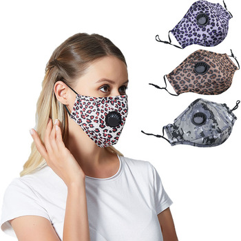 1Set Reusable Mouth Mask Washable Lepard Large Size PM2.5 Filter Mask Anti Dust Face Mask Windproof Mouth-muffle Anti Flu Mask