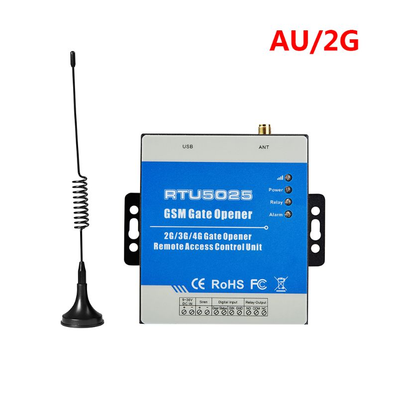1Set GSM RTU5025 Wireless Opener Relay Switch Remote Control Access Control 2/3G