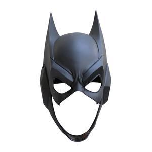 Image 5 - Top Quality Superhero The Dark Knight Batman Cosplay Masks Bruce Wayne Half Face PVC Helmet Mask Party Masquerade Carnival Props