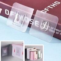 Ganchos de pared adhesivos de doble cara, colgador de pared transparente con ventosa, gancho multiusos de doble cara, 1/5/10/15 pares