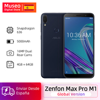 Global Version 2018 ASUS ZenFone Max Pro M1 ZB602KL Smartphone 4GB 64GB 6.0 inch 4G LTE 5000mAh Mobile Phones Snapdragon 636