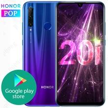 Globale rom HONOR 20i Smartphone honor 20 lite 6.21 pollici Kirin 710 Octa Core Android 9.0 di Impronte Digitali Sbloccare honor 10i del cellulare