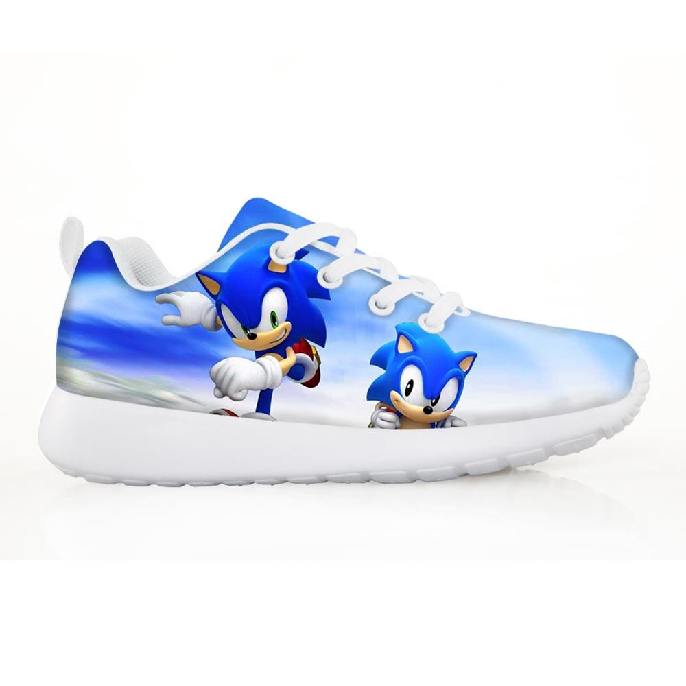 Pretty Sonic Boys Kids Shoes For Girl Sneakers Light Children Shoes Cartoon Cats Outdor Shoes Girls Light Drop Shipping