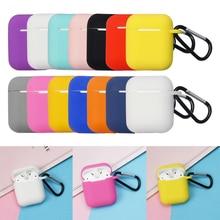 Housse de étui de protection complète pour Airpods peau de Silicone Portable avec porte clés pour Apple Airpods étui de charge pour écouteurs