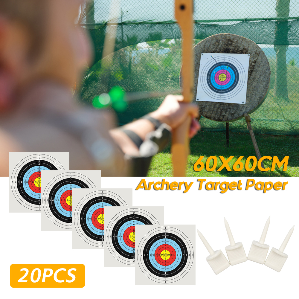 20pcs Black Plastic Archery Target Pins Nail Supplies Target Face Pins 5.5cm