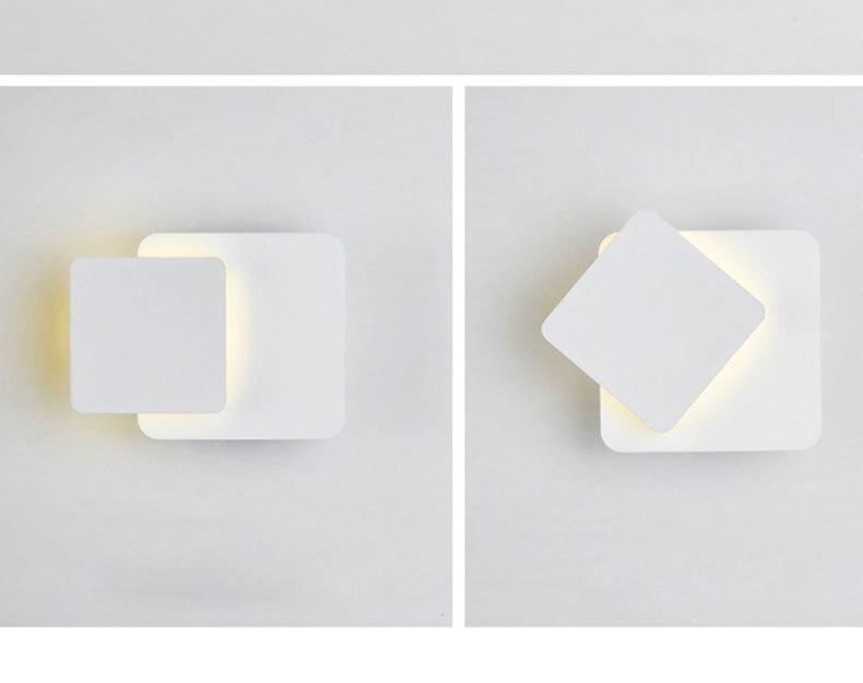 luzes parede 360 graus rotatable metal 5w 16w luminárias