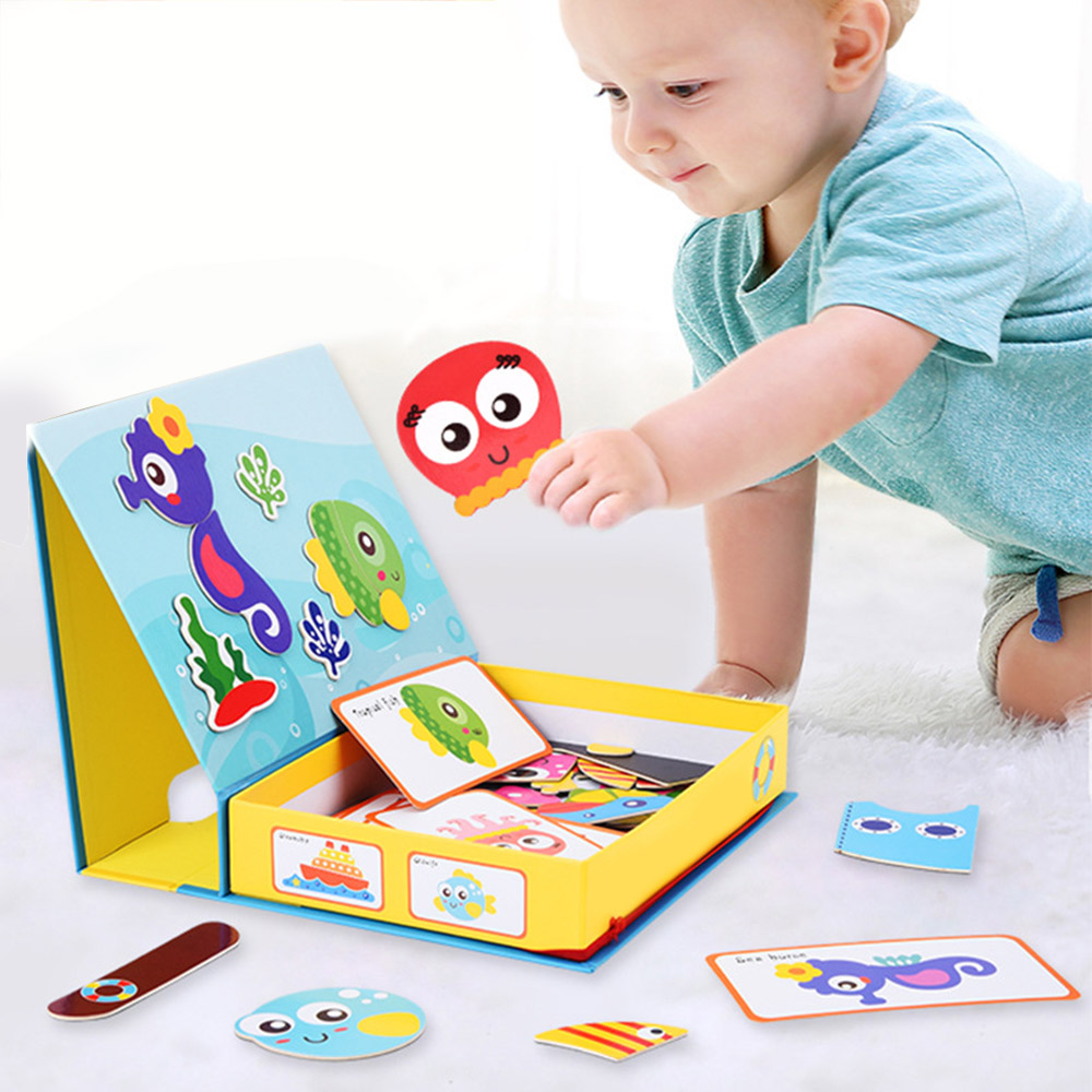Kids Cartoon DIY Puzzle 3D Traffic Matching Jigsaw Games Toy Early Learning Traffic Puzzles Educational Toys For Child Gift