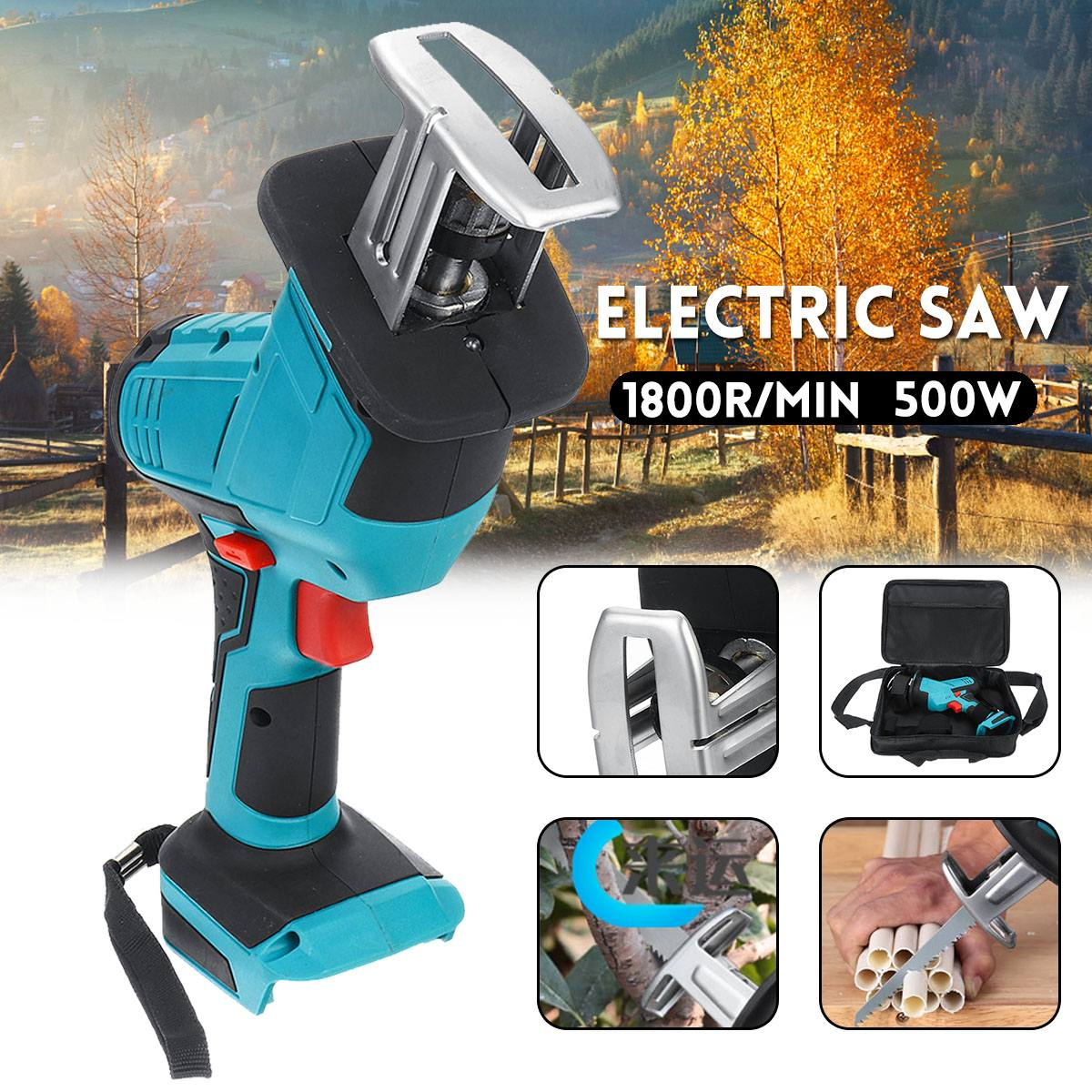 2020 New 500W Electric Saw Cordless Reciprocating Saw Metal Cutting Tool Portable Woodworking Cutter for 18V Makita Battery