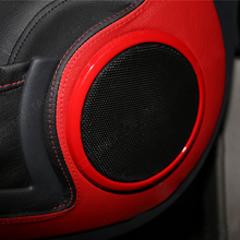 2 pcs Car speaker Protection Cover Sticker Interior Trim decoration For Mercedes 08 14 Smart 451 Fortwo car styling accessories