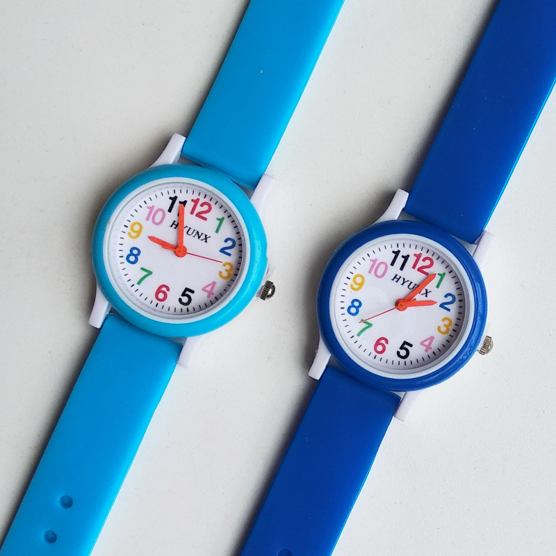 1pcs New Arrival Quartz Children Watch Silicone Bands Learn To Time Number Watches Kids Christmas Gift Digital Electronics Watch