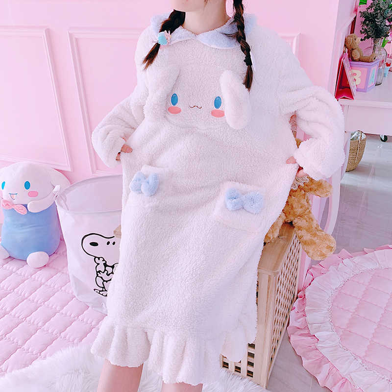 Kinder Erwachsene Bademantel Melody Cosplay Cinnamoroll Kostüm Bad Robe Nachtwäsche Muster Plüsch Robe Frauen Pyjamas Cartoon
