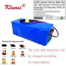 Kluosi 36v 11.6Ah 12Ah 10S4P 36vバッテリー42 12vリチウム電池パックのため750ワット電動車自転車モーターとscoote 25A bms