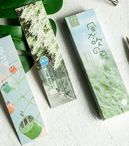 Summer Wind Paper Bookmark(1pack=30pieces)