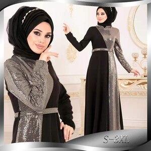 Image 1 - הרמדאן עיד מובארק נצנצים העבאיה דובאי טורקיה חיג אב מוסלמית Abayas תורכי שמלות לנשים בגדים האסלאמיים קפטן קפטן