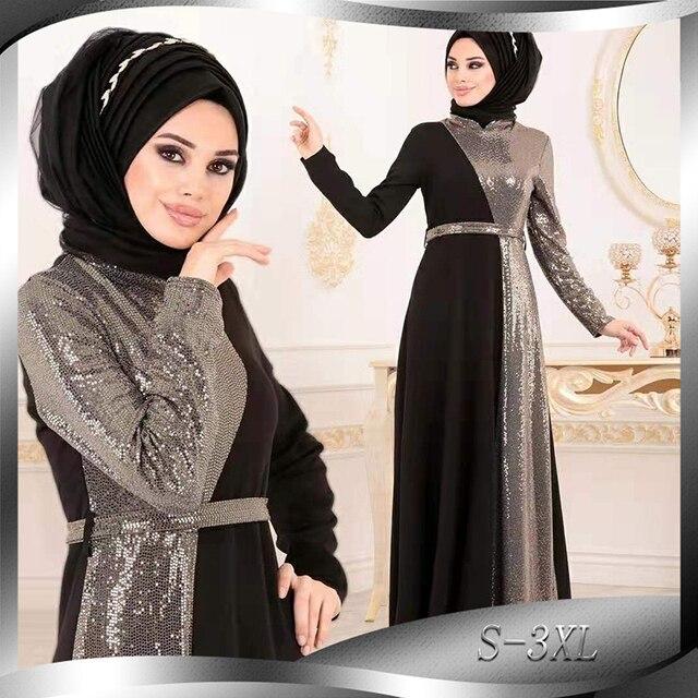 הרמדאן עיד מובארק נצנצים העבאיה דובאי טורקיה חיג אב מוסלמית Abayas תורכי שמלות לנשים בגדים האסלאמיים קפטן קפטן