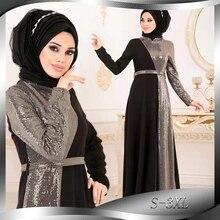 Ramadan Eid Mubarak cekiny Abaya dubaj turcja hidżab sukienka muzułmańska Abayas tureckie sukienki dla kobiet Kaftan islamska odzież Kaftan