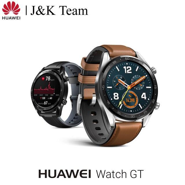 Huawei Watch GT Slimme horloge Ondersteuning GPS 14 Dagen Batterij Leven 5 ATM water proof Telefoontje Hartslag Tracker voor Android iOS