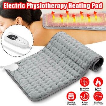 6 Level 120W Electric Heating Pad Timer For Shoulder Neck Back Spine Leg Pain Relief Winter Warmer 75x40cm 60x30cm EU/US/UK/AU 1