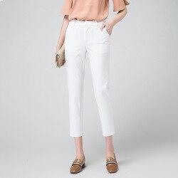 Женские теплые бархатные прямые брюки средней длины с эластичным поясом на осень и зиму 2020