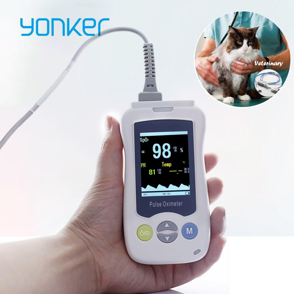 Yonker Médica Veterinária Oxímetro de pulso Portátil Oxímetro de pulso Portátil portátil Para Cães Gatos Raposas e Outros Animais de Estimação Veterinários