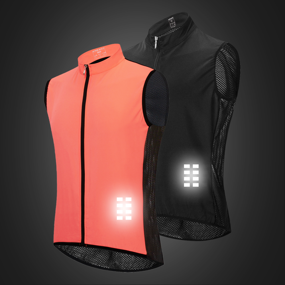 Image 4 - WOSAWE Breathable Cycling Vest Windproof Water repellent Running Vest MTB Bike Bicycle Reflective Sleeveless Cycling Jersey-in Cycling Vest from Sports & Entertainment