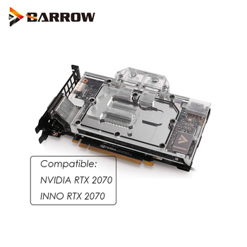 Barrow  GPU Water Block for NVIDIA RTX 2070/INNO RTX 2070 computer case Water Cooling cooler sync 3pin 5v header BS-NVG2070-PA