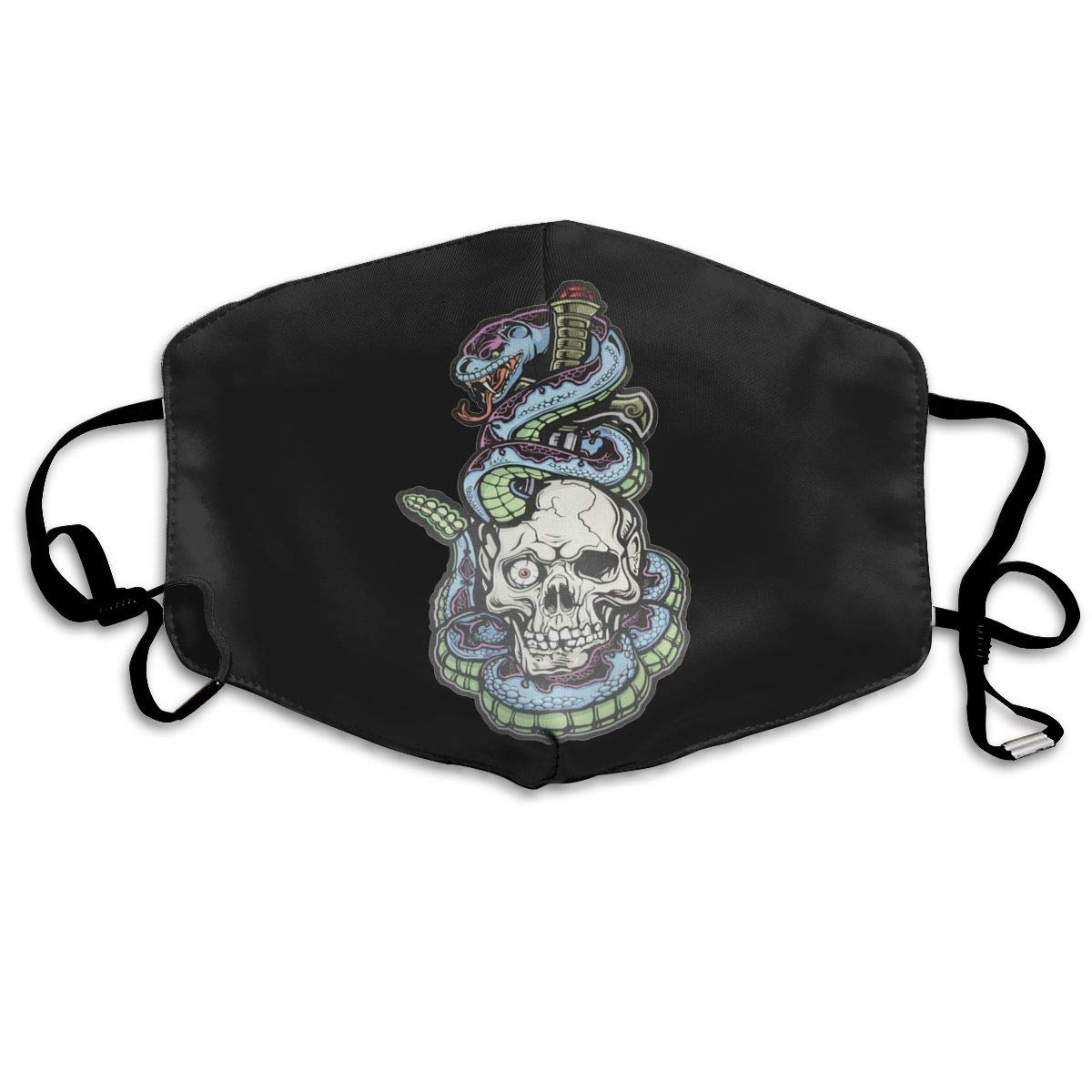 Mouth <font><b>Mask</b></font> Surround Skull <font><b>Avatar</b></font> Print <font><b>Masks</b></font> - Breathable Adjustable Windproof Mouth-Muffle, Camping Running for Women and Men image
