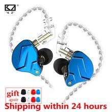 Novo kz zsn pro x 1dd 1ba híbrido metal no ouvido fone de alta fidelidade dj monito correndo esporte fone de ouvido fone de ouvido kz zst x zs10 pro v90 c12