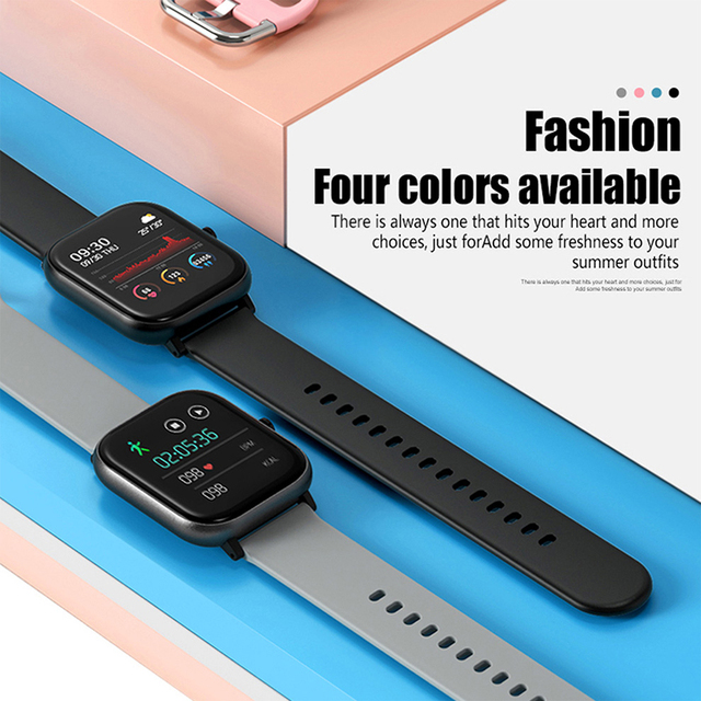 SQR P8 SE Smart Watch Men Women 1.4 Inch Fitness Tracker Full Touch Screen Ip67 Waterproof Heart Rate  Monitor for iOS Android 6