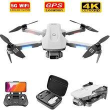 F8 2021 novo gps zangão 4k/6k hd câmera profissão wifi fpv zangão motor sem escova cinza dobrável quadcopter rc dron brinquedos