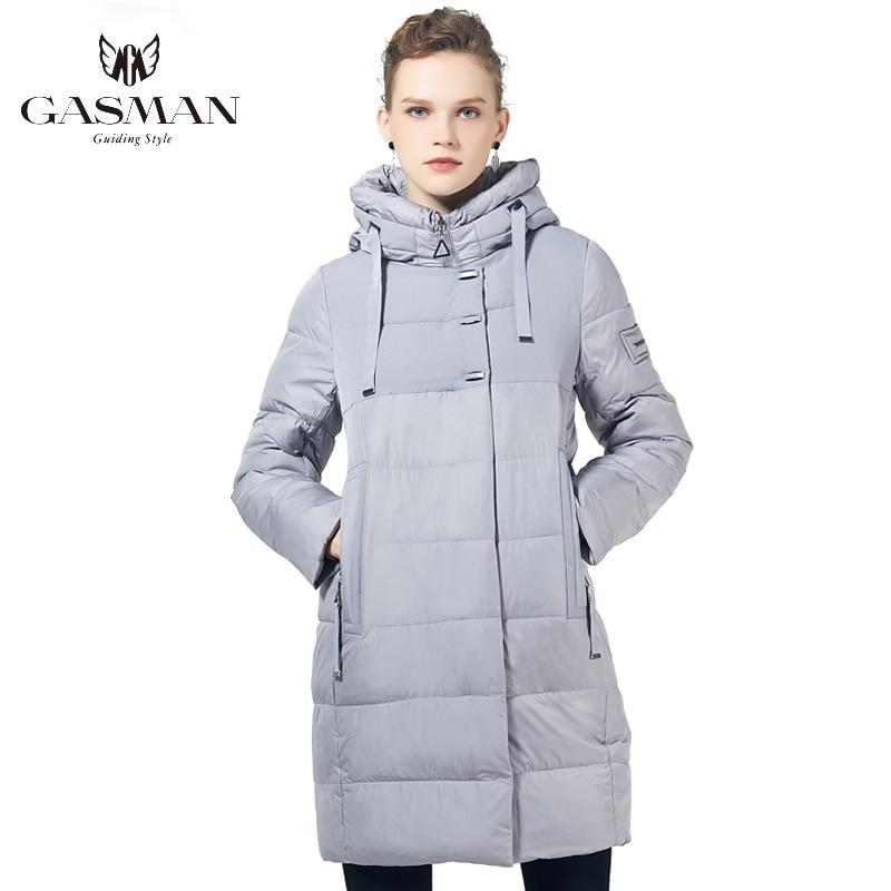 GASMAN 2019 Winter Women Parka New Collection Windproof Women's Thick Coat Hooded European Style Women's Warm Down Jacket 17616