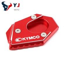 עבור Kymco Xciting 250 300 350 400 400i 250i 300i 350i אופנוע Kickstand רגל צד הארכת כרית תמיכה צלחת להגדיל stand