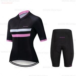 Image 3 - Ropa de Ciclismo de equipo profesional para Mujer, conjunto de pechera para Ciclismo de montaña, camiseta de bicicleta de carretera, novedad de 2020