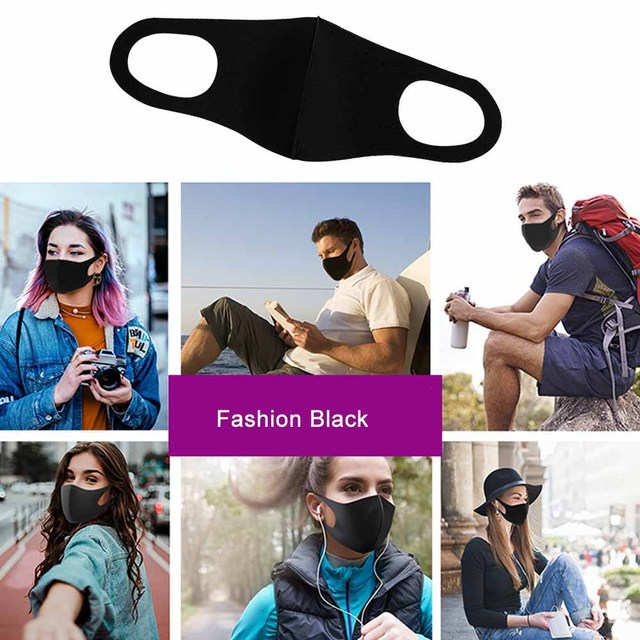 10Pcs Washable Face Mouth Mask Reusable Anti Dust Masks Filter Windproof Mouth-muffle Bacteria Proof Flu Fashion Face Masks Care 5
