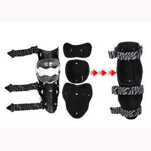 Image 5 - Motorcycle carbon fiber knee pads four seasons knight riding anti fall motorcycle off road protective gear leggings equipment