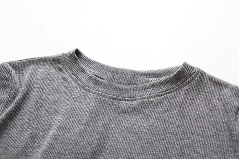 VGH décontracté évider femmes t-shirts col rond à manches longues mince solide T-Shirt pour femme 2019 automne mode vêtements marée