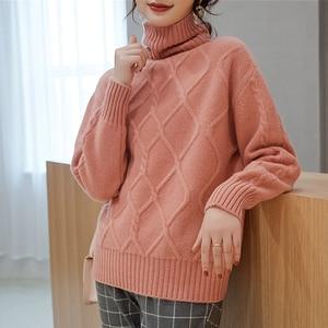 Image 4 - สุภาพสตรีจัมเปอร์ 100% แคชเมียร์และผ้าขนสัตว์ถักเสื้อกันหนาวสำหรับสตรี 2019 เสื้อ 4 สีหนา Pullovers เสื้อผ้า