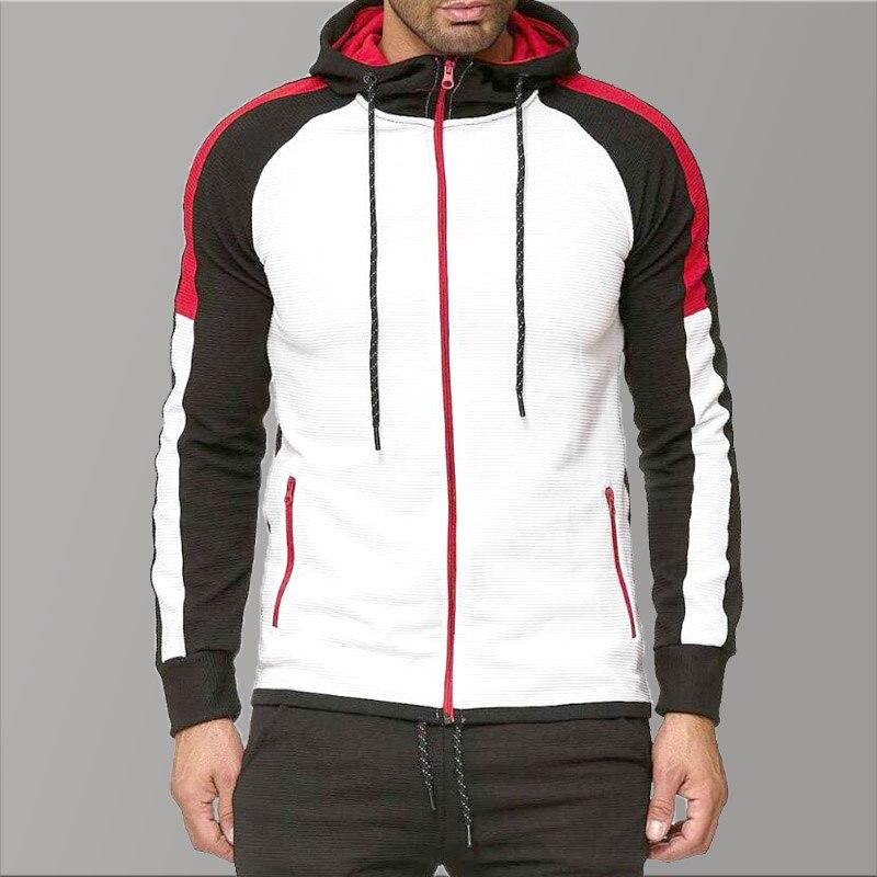 5XL Oversized Hoodies Men 2019 Clothing Slim Fit Hoodie Black Men Fold Causal Sweatshirts Men Gym Autumn Long Red Hoodies Man