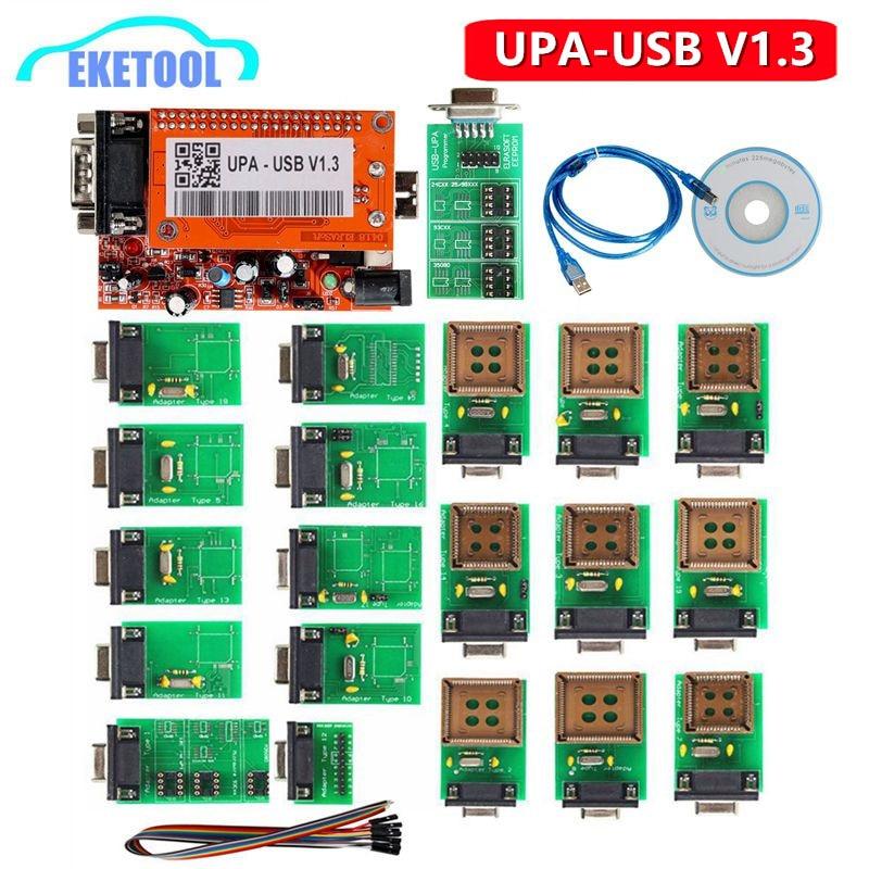 UPA USB V1 3 UUSP Serial Programmer UPA USB Adapter V1 3 For ECU Chip Tuning Eeprom amp Microchip Full Adaptors