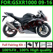 Nuevas motocicletas carenados kit de para Suzuki GSXR1000 K9 2009 2016 GSXR-1000 09 10 11 12 13 14 15 16 carenado de carrocería negro