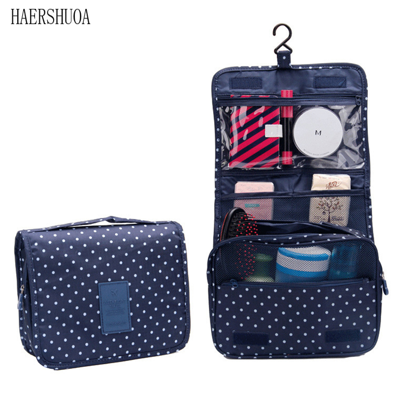 Convenient Quality Travel Ladies Men's Hook Cosmetic Bag Portable Protective Cover Makeup Storage Bag Wash Bag Shower Bag