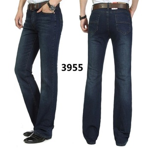 Image 4 - משלוח חינם זכר פעמון תחתון ג ינס מכנסיים slim שחור צופר אתחול לחתוך ג ינס בגדי גברים מזדמנים עסקים אבוקות מכנסיים 36