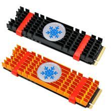Disipador térmico de aluminio, disipador térmico extruido para PCIe NVMe M2 2280 SSD, Enfriador de enfriamiento por disipación de calor con almohadilla térmica de silicona
